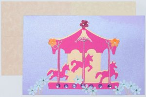 Carousel of Spring paper colors – DIY Card idea