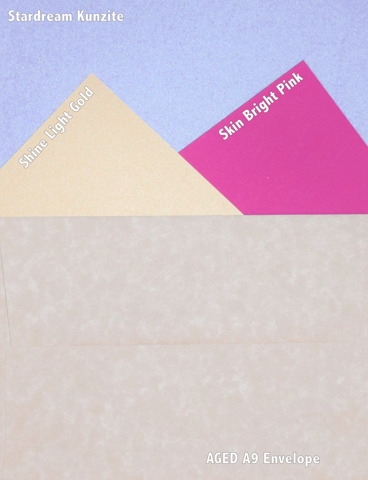 envelope and paper used for card