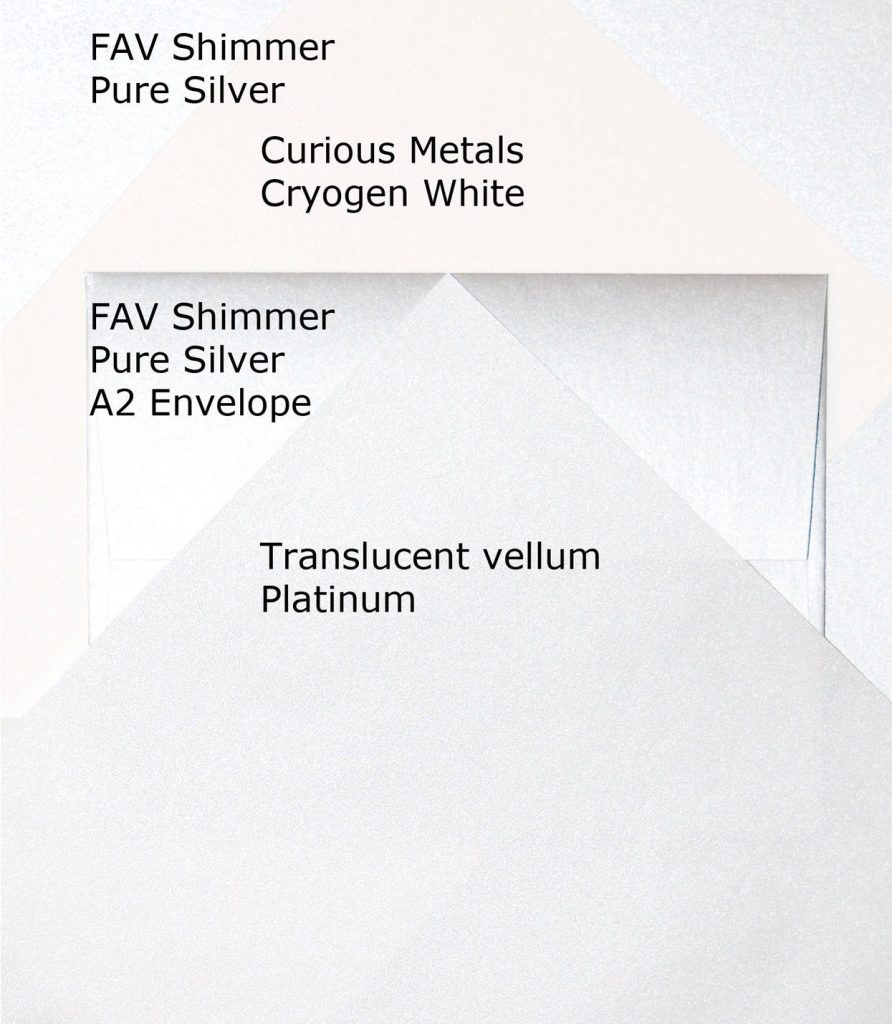 Shimmer paper chosen