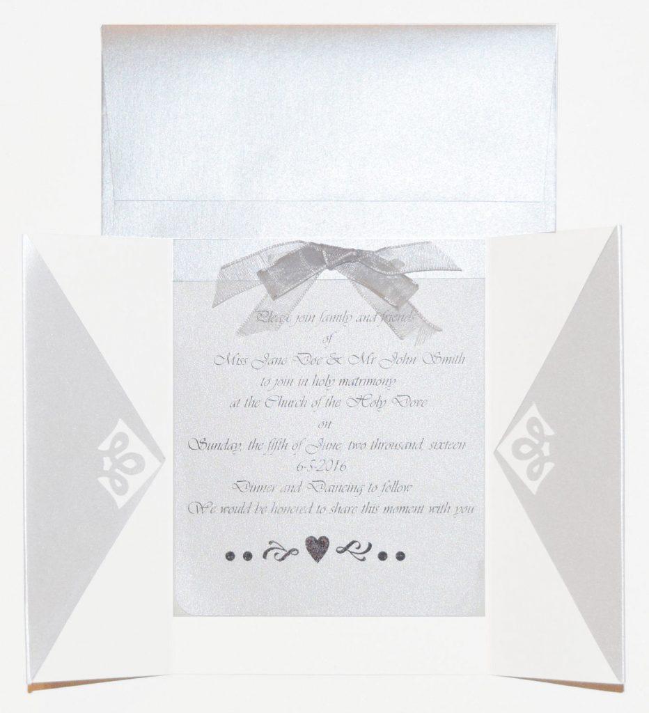 Shimmer Paper Wedding Invitation