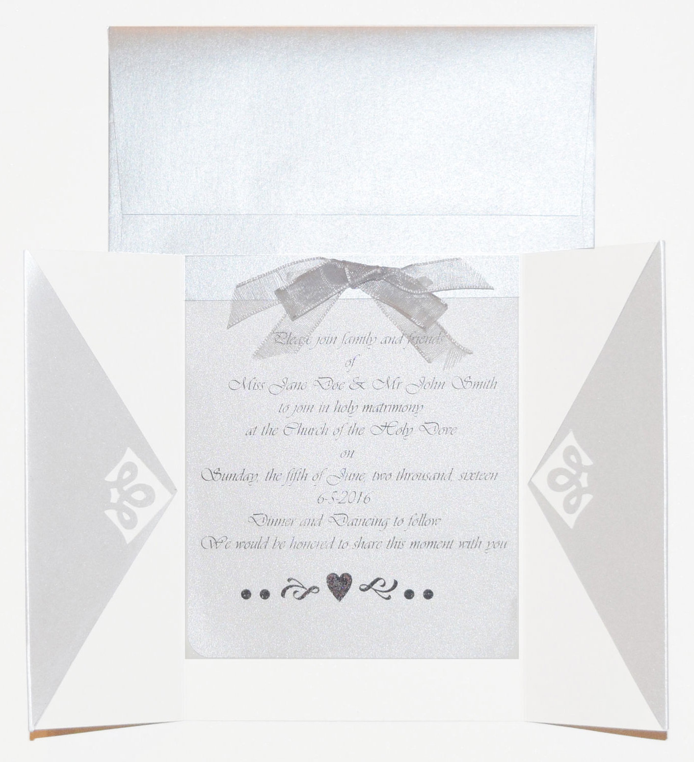 Shimmer Paper Wedding Invitation
