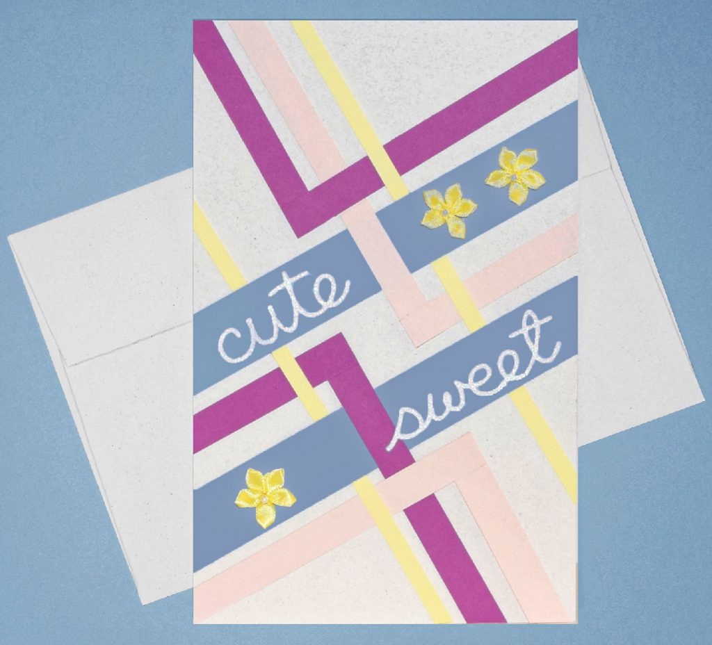 bright paper for cute cards