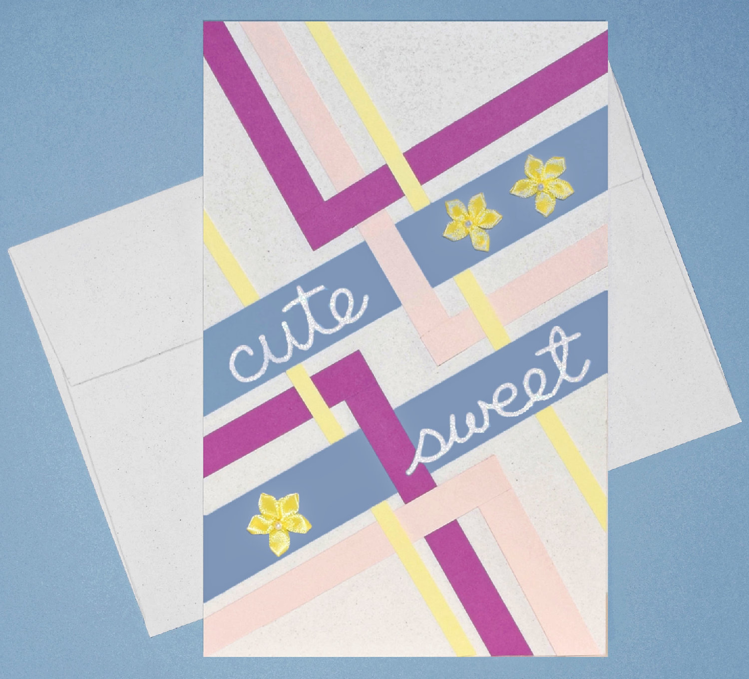 brighten a day with happy thoughts and bright paper - Paper Paper CuteSweet w proofw envelope 3 placed - Brighten a day with happy thoughts and bright paper