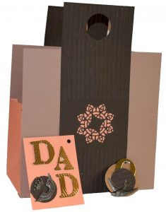 Bag it up for Dad in this handmade, cardstock gift bag