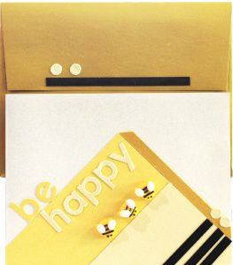 Happy DIY card and envelope is a great way to send smiles