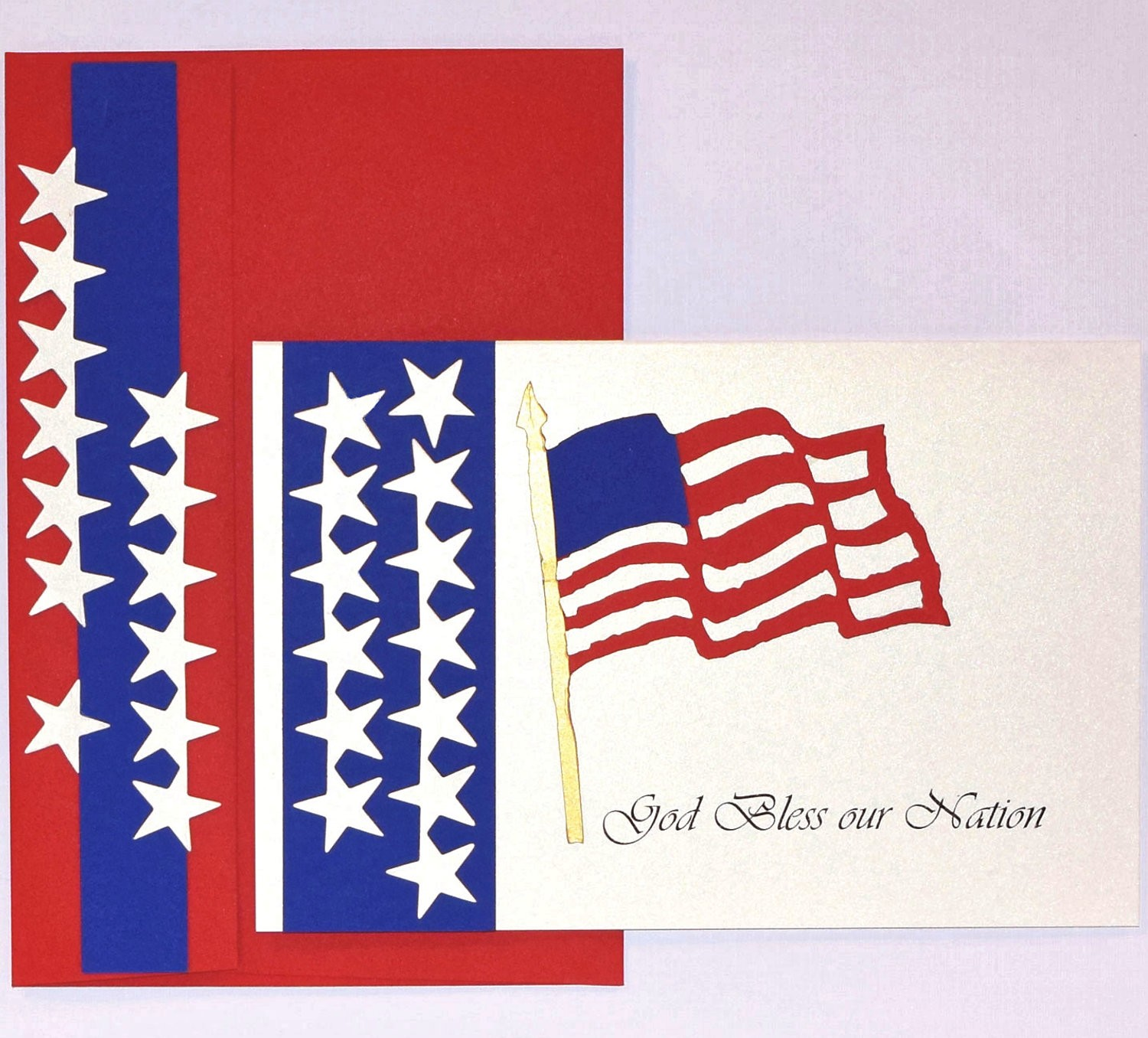 stars and stripes card is here just in time! - Paper Papers July 4th 2016 Orig proof best web - Stars and Stripes Card is here just in time!