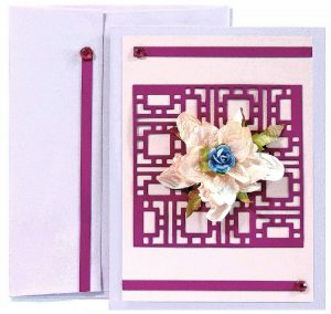 Popular Paper and Cheery Lynn Frame Card
