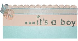 Baby Boy Announcement with Bluebell Metallic Paper and more