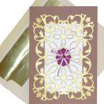 Crush Almond Paper and Flourish Card Design