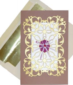 Crush Almond Paper and Flourish Card Design