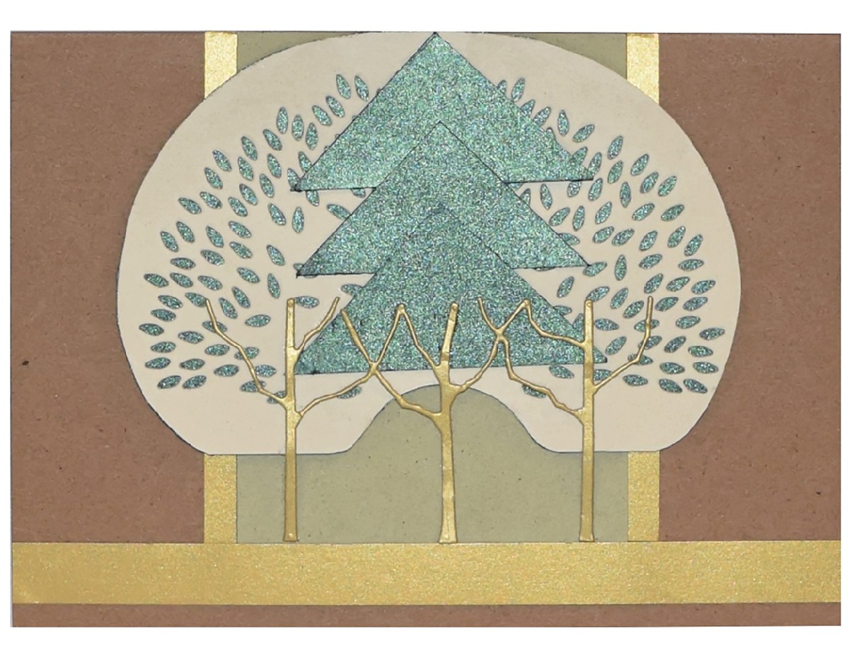 diy card from recycled paper is a wonderfaul way to celebrate our seasons of change - Paper Papers Tree 5 card - DIY Card from recycled paper is a wonderfaul way to celebrate our seasons of change