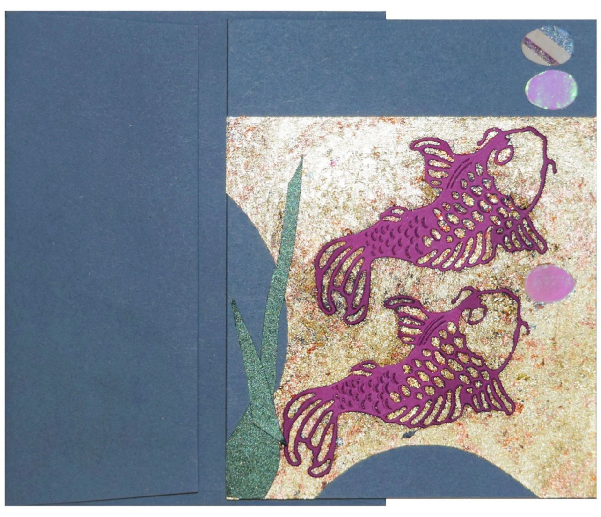 colorful koi fish card made with shimmer paper and more - Paper Papers Koi Fish 6 web - Colorful Koi Fish Card made with Shimmer paper and more