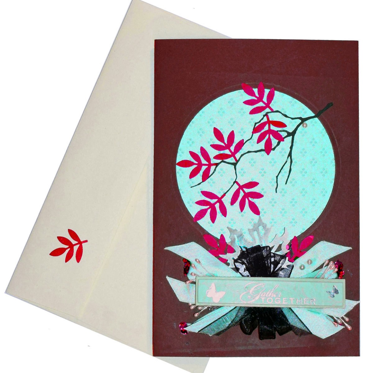 gather together and give thanks diy card - Paper Papers Thanksgiving cherry branch web 3 - Gather together and Give Thanks DIY Card