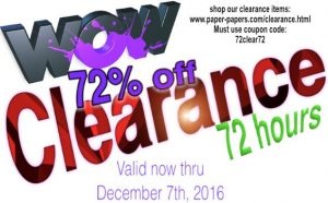 Crazy Clearance Offer – 72% off for 72 hours