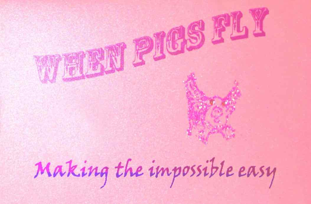 when pigs fly - PaperPapers Flying Pigs Inkjet 1 - When Pigs Fly