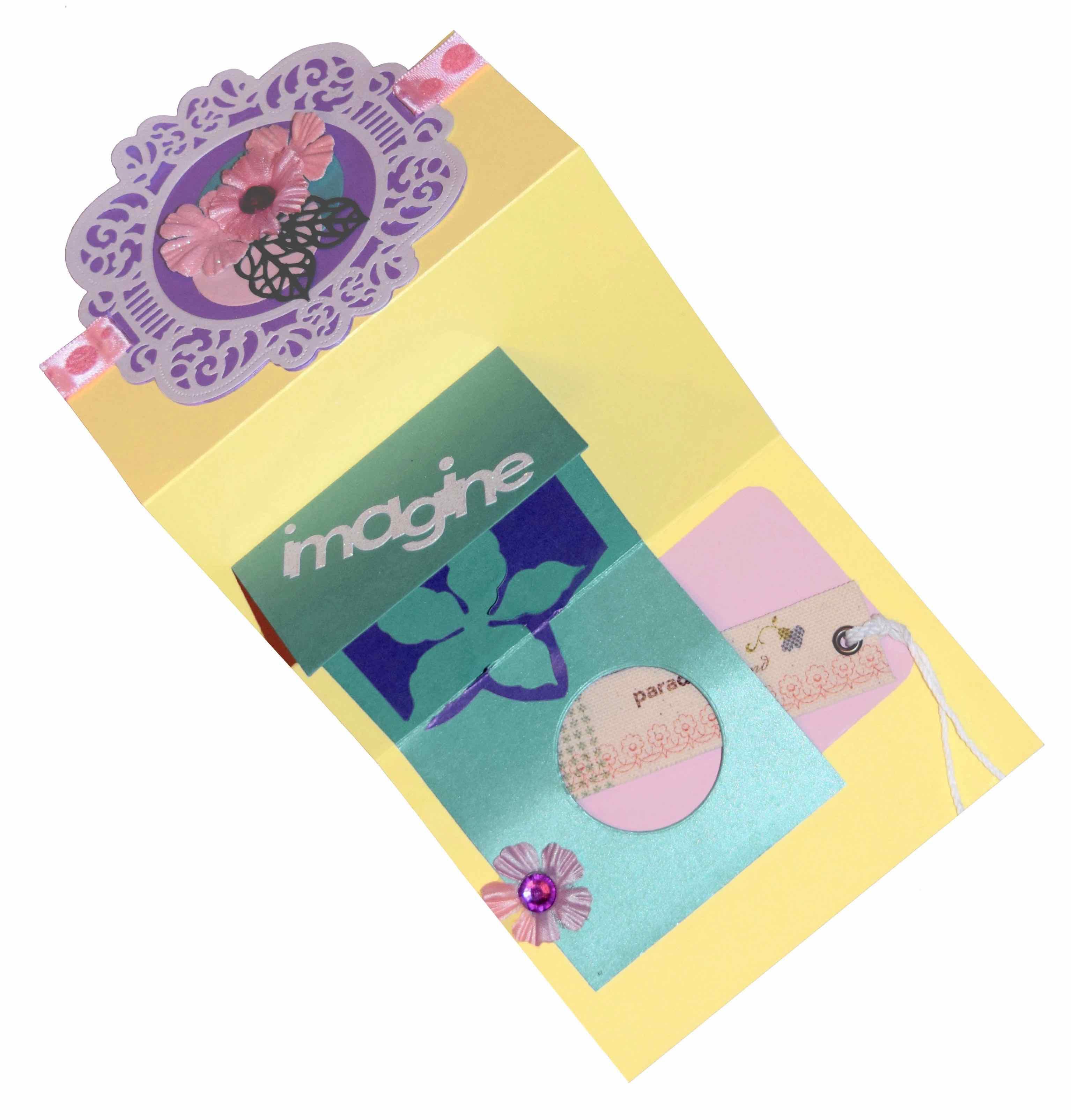 spring flower trifold pocket card - Paper Papers Trifold Opened 1a Original a - Spring Flower Trifold Pocket Card