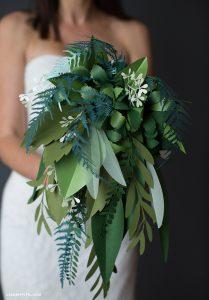 Paper Botanical Bridal Bouquet