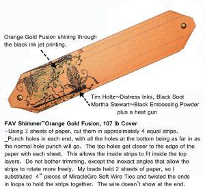happy pumpkin day ~ orange shimmer paper delight - 9 PaperPapers Pumpkin Strips Brads w text web 300x276 - Happy Pumpkin Day ~ Orange Shimmer Paper Delight