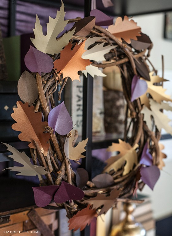 DIYFallPaperLeafWreath