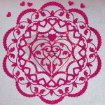 Make Valentine's special with Lilac card stock and pink trimmings
