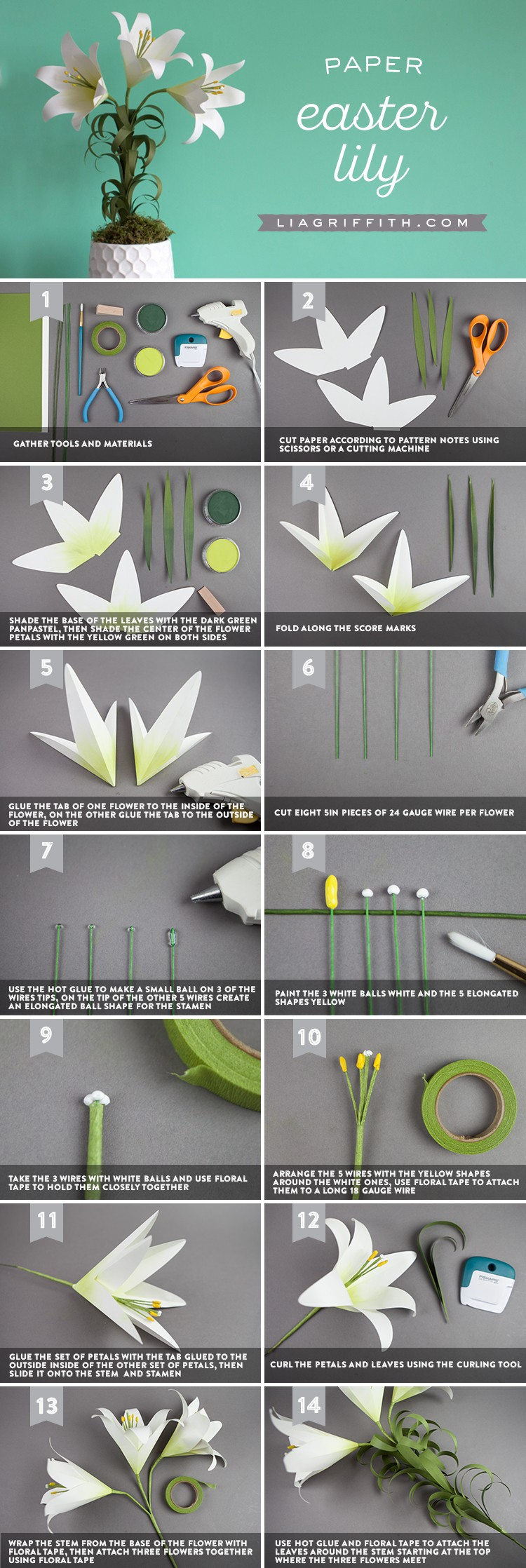 Diy Elegant Paper Easter Lily Paperpapers Blog