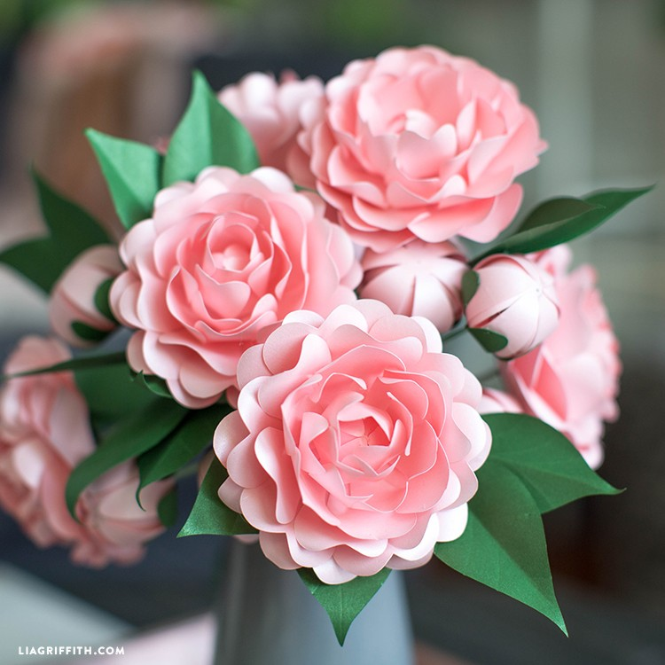 paper camellia - Frosted Paper Camellia 2 - Paper Camellia