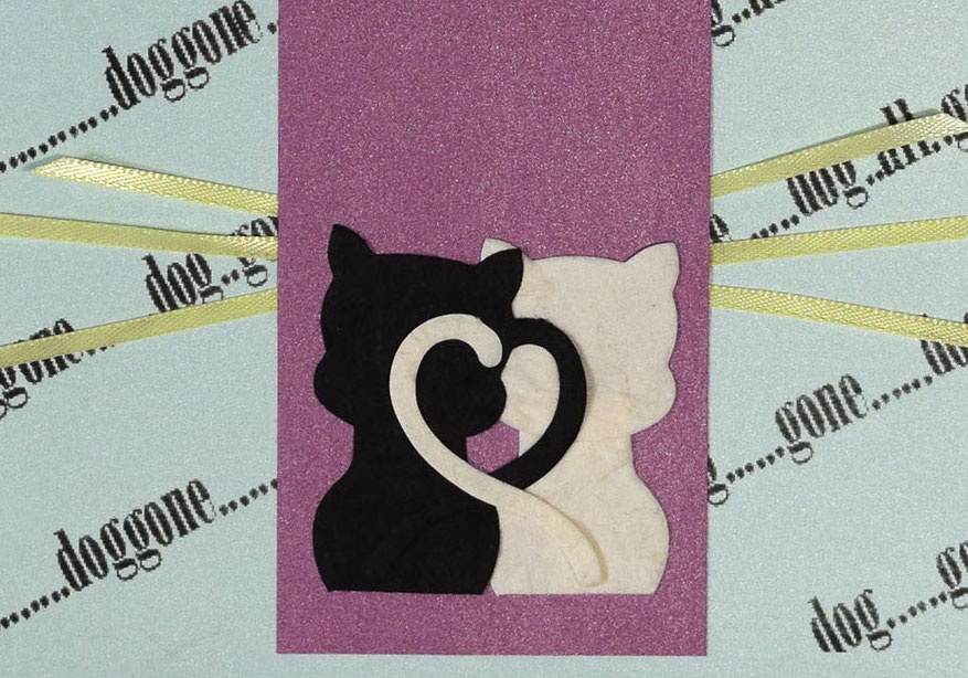 paper cat card - G PaperPapers Cat Card - Paper Cat Card