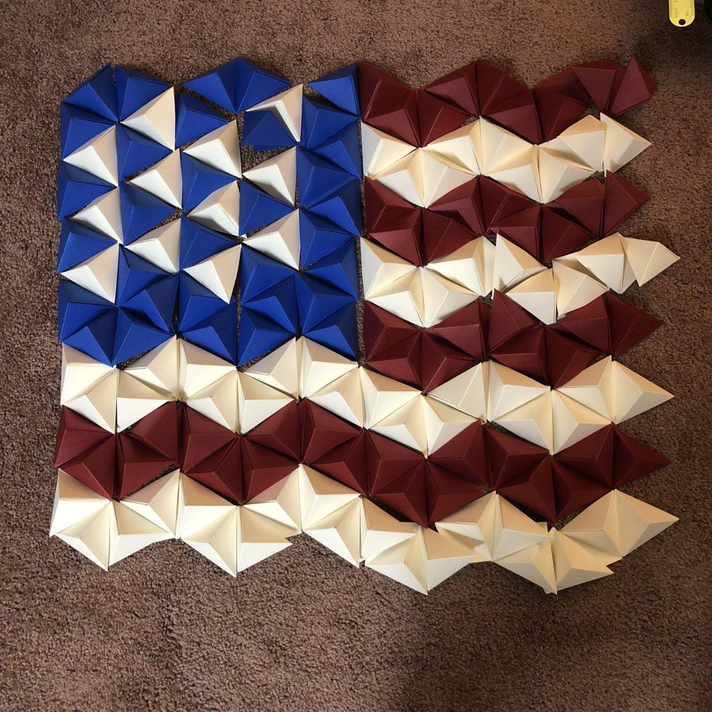 PaperPapersAmericanFlagWallArt04