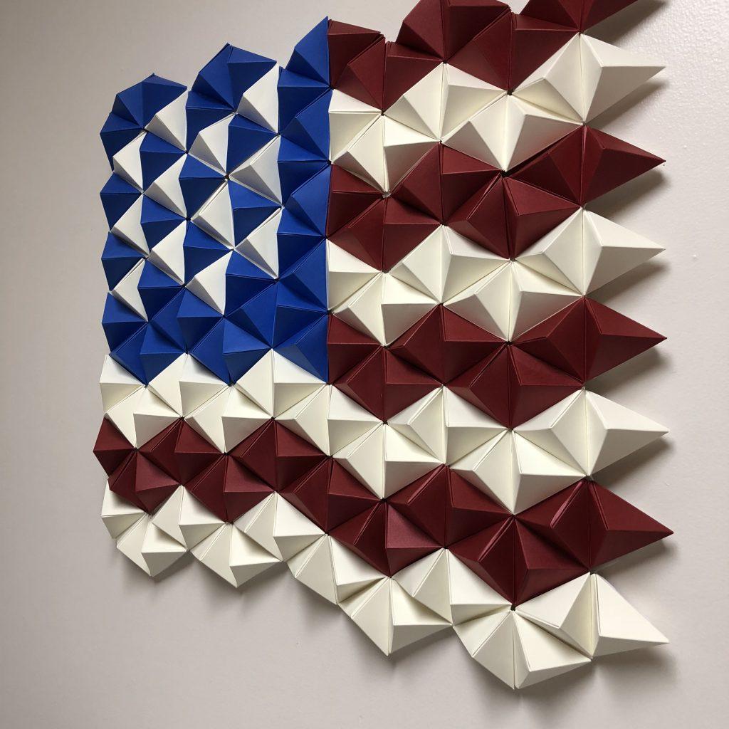 PaperPapersAmericanFlagWallArt10