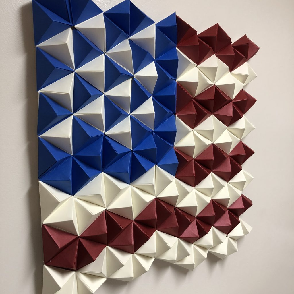 3D Paper American Flag - Origami Wall Art - PaperPapers Blog