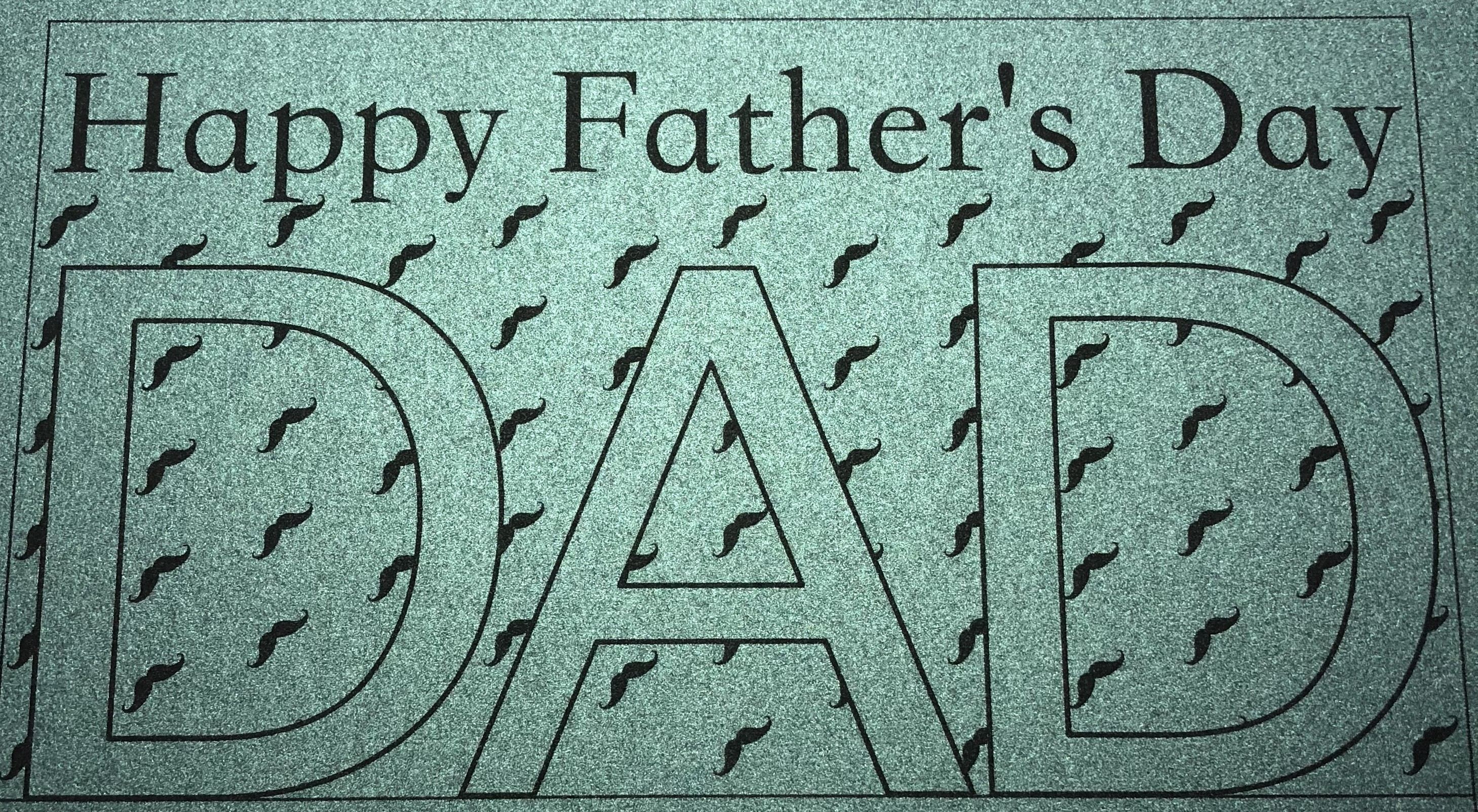 PaperPapersFatherDayCard04 celebratory father's day card - PaperPapersFatherDayCard04 - Celebratory Father's Day Card