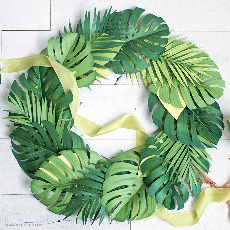 monstera leaf wreath - monstera leaf 1 - Monstera Leaf Wreath