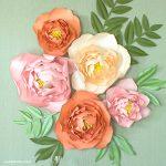 Jumbo Peony Flower Backdrop