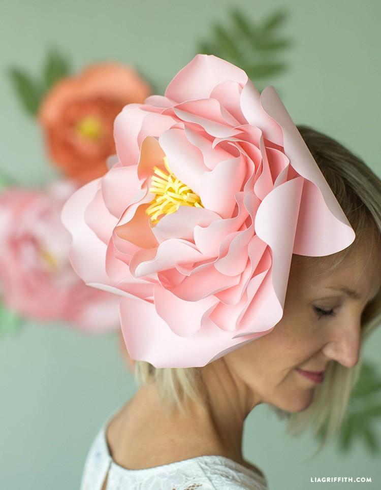 Paper Peony Flower Backdrop