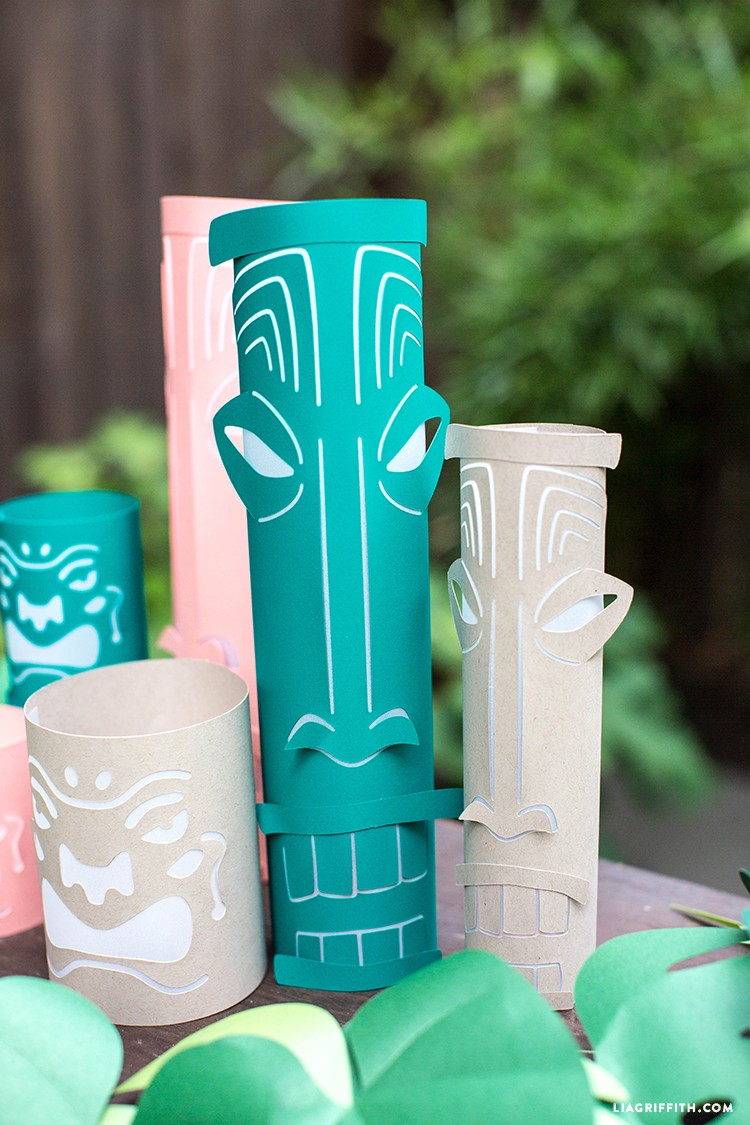 paper tiki lanterns for your tropical party