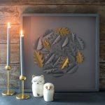 DIY Fall Decor: Papercut Oak Leaf Framed Art