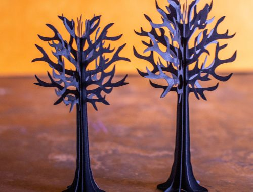 Spooky 3D paper trees for Halloween