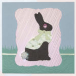 Chocolate Bunny Paper Easter Card