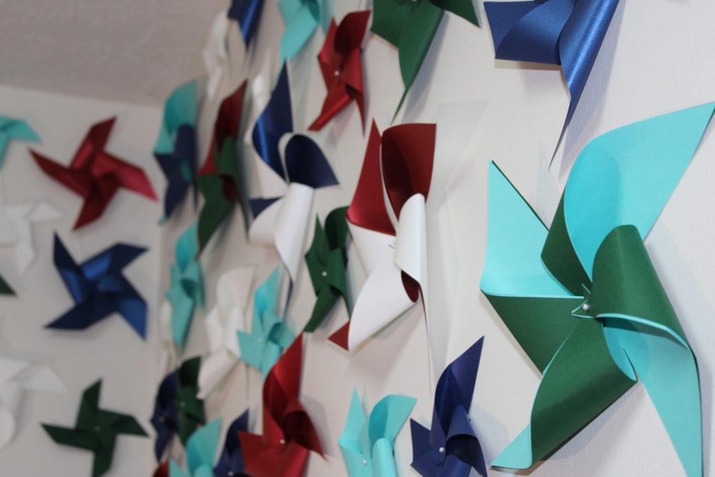 paper pinwheel wall design - IMG 0758 1024x683 - Paper Pinwheel Wall Design