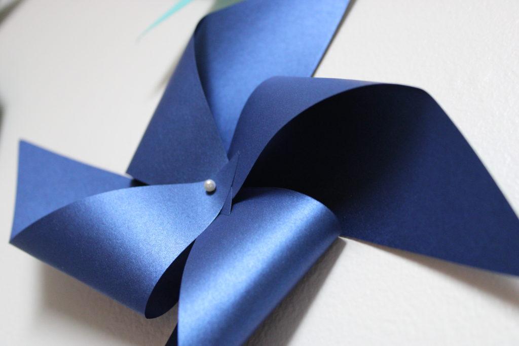 paper pinwheel wall design - IMG 0775 1024x683 - Paper Pinwheel Wall Design