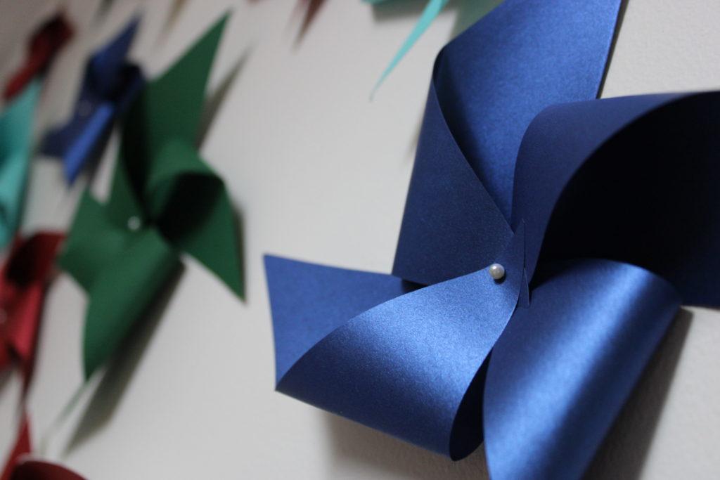 paper pinwheel wall design - IMG 0778 1024x683 - Paper Pinwheel Wall Design