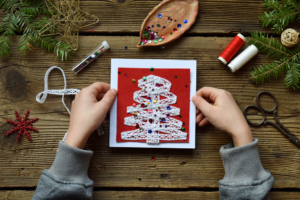paper christmas card