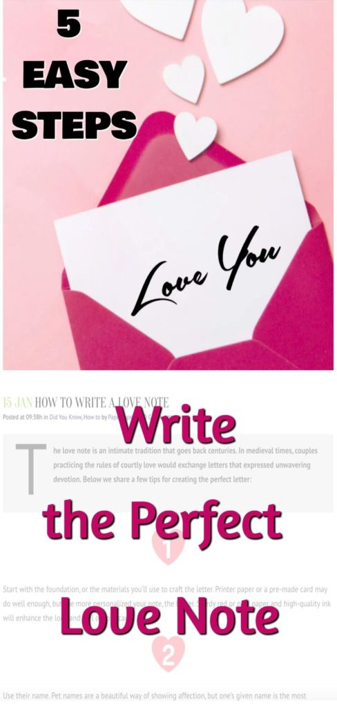 Write the Perfect Love Note