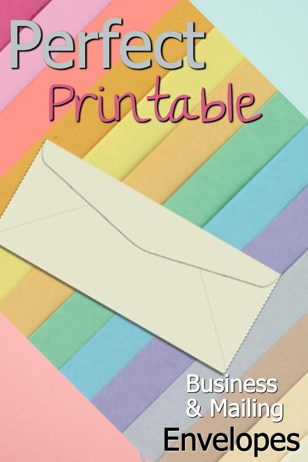Printable Envelopes, #10 Envelopes