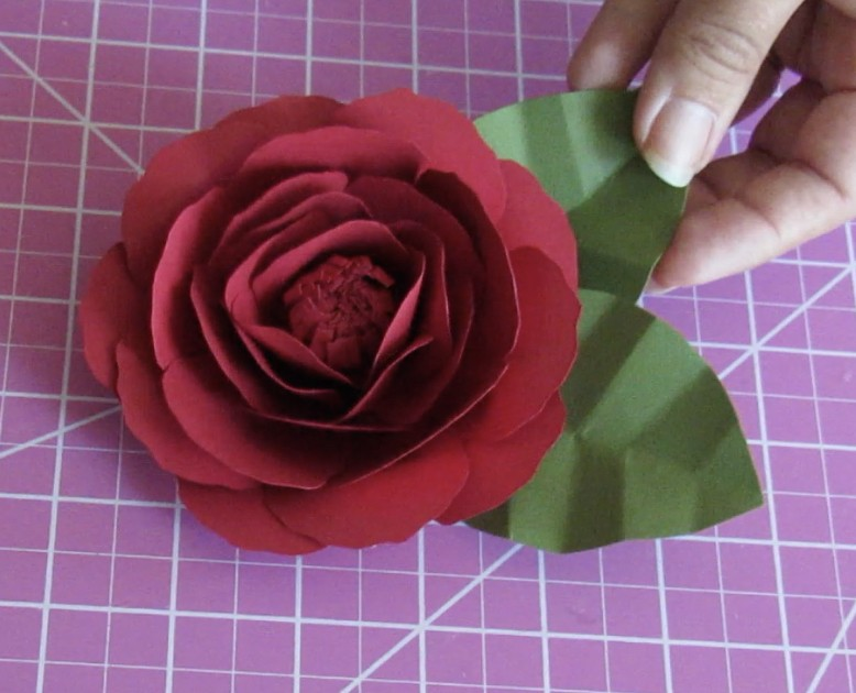 paper flowers rose project