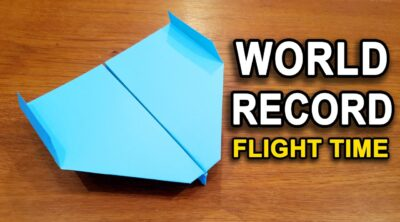 How To Make The WORLD RECORD PAPER AIRPLANE for Flight Time