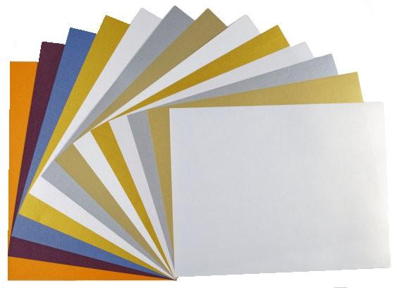 Elegant FAV Shimmer Metallic 8.5 x 11 CARDSTOCK Variety Pack (8 Colors / 5 each) - 40 PK